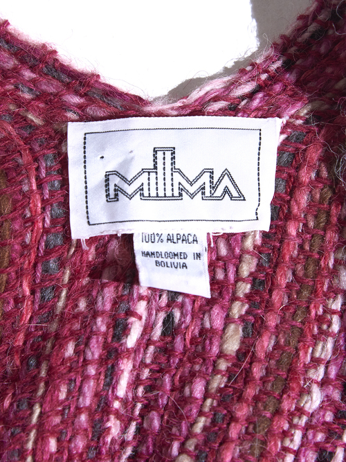 """1980s """"MILLMA"""" alpaca cape coat -PINK-"""