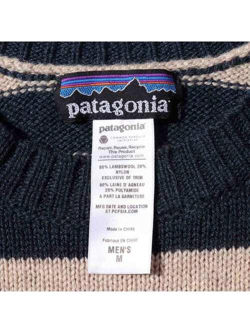 00's~ PATAGONIA Lambswool Crew Knit Sweater [M]