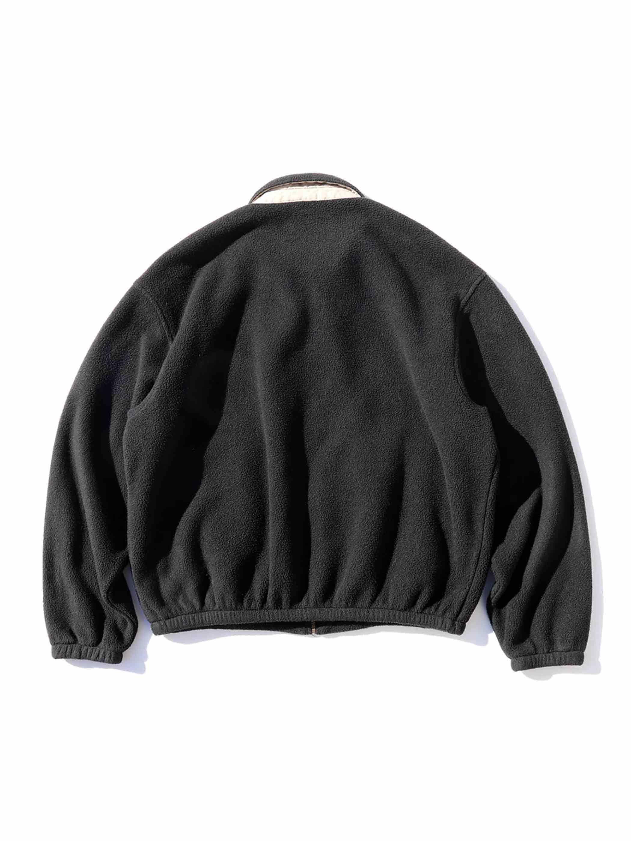 90's POLO RALPH LAUREN USA製 ブラック フリーススイングトップ [L]