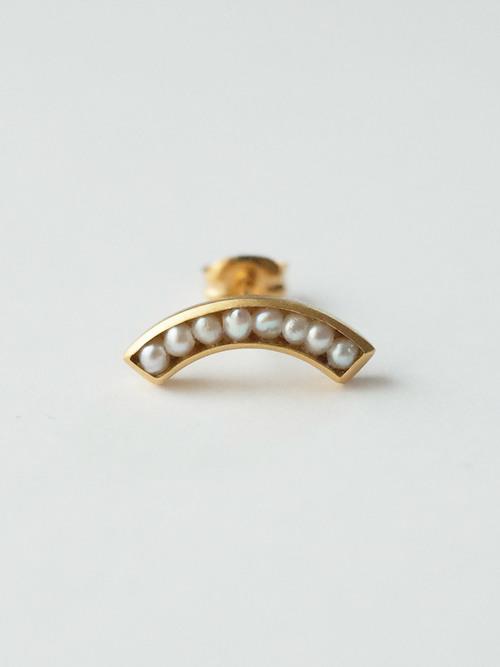 Si arc pearl earring 1