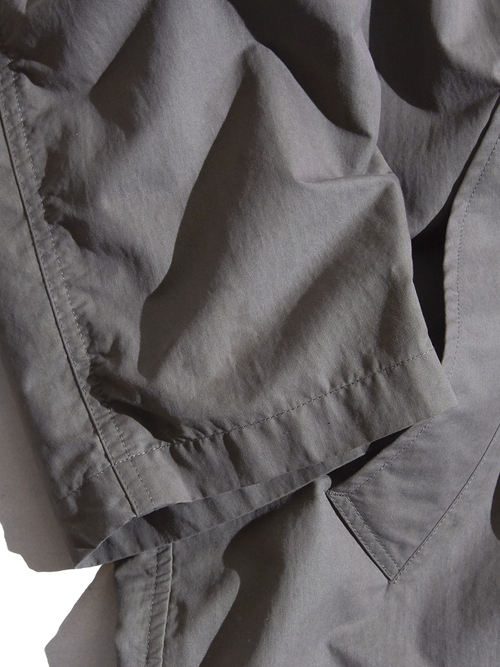 "1990s ""BANANA REPUBLIC"" cotton/nylon bal collar coat -KHAKI-"