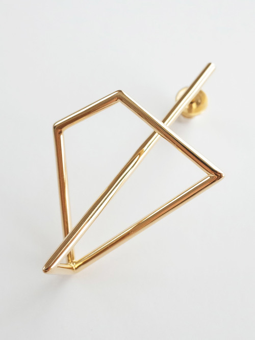Li unsystematic earring gld 2 1