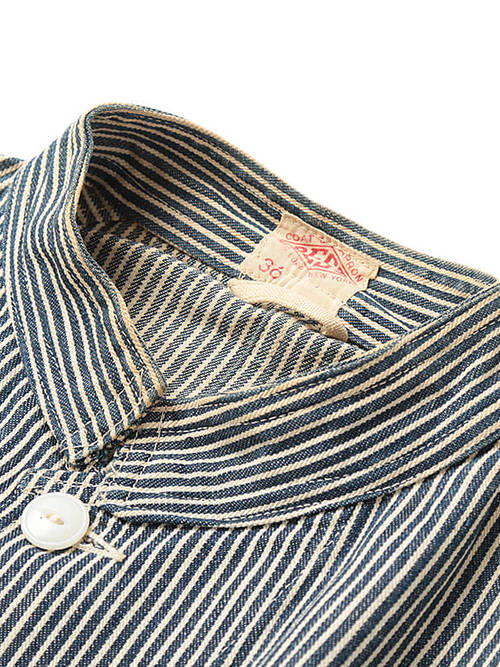 Used / Best / 1950's Vintage / Stand Collar Hickory Stripe Jacket