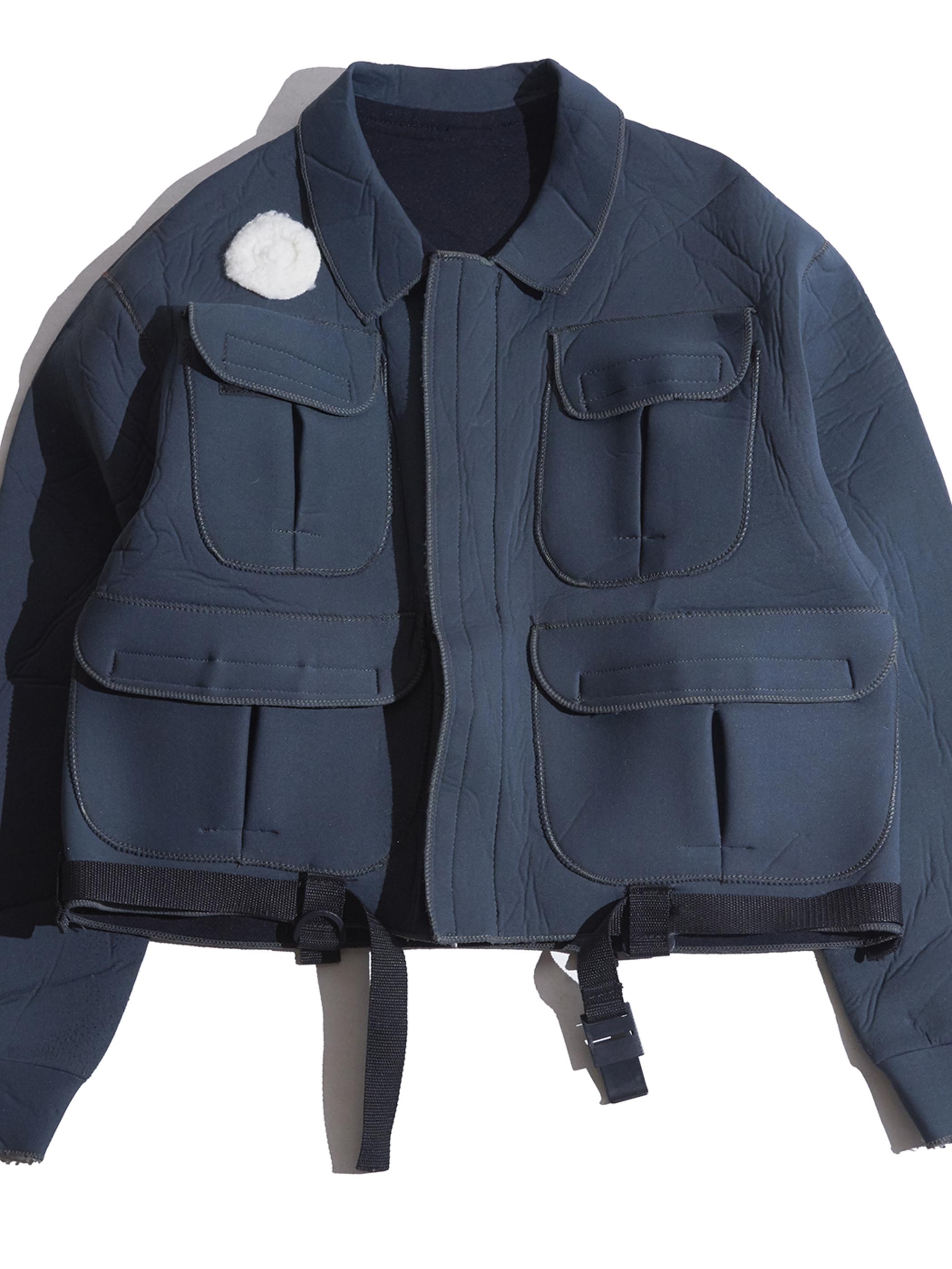 "1980s ""unknown"" bonding fishing jacket -GREEN-"