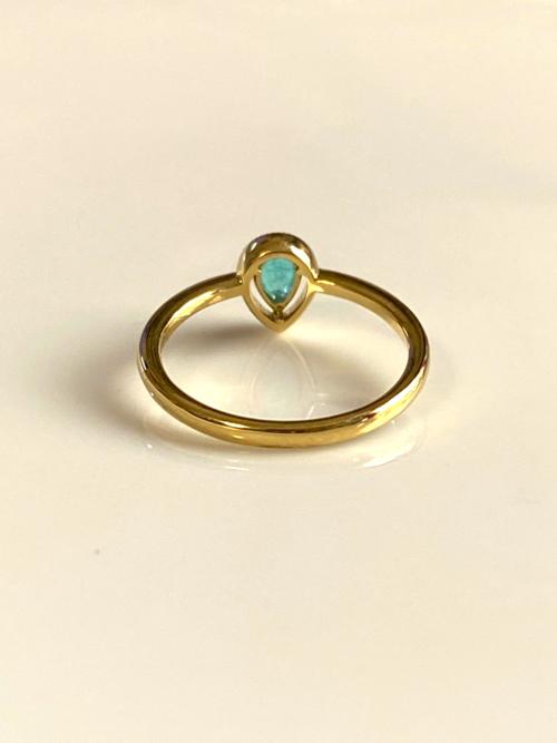 Cinderella Ring -pear shaped-