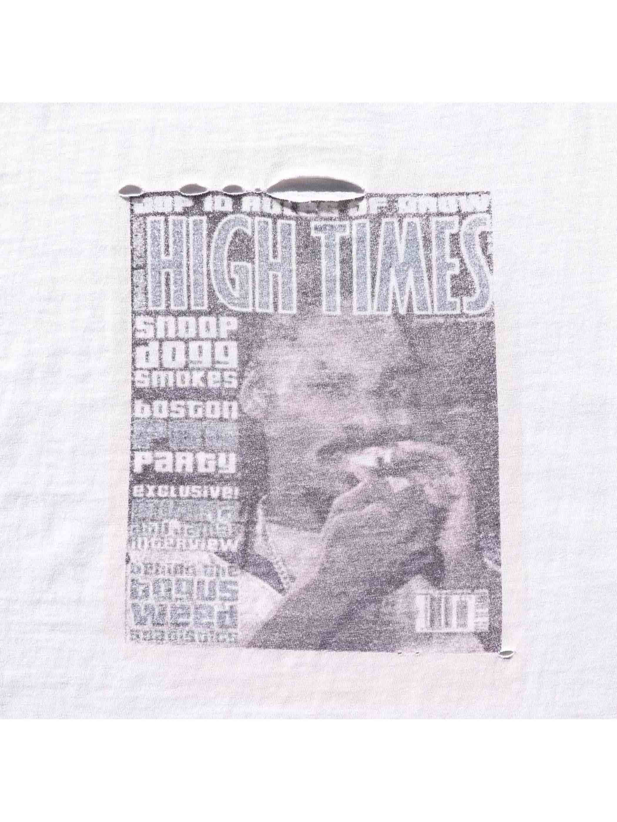 00's K-A-O-S UNDERGROUND RADIO STATION / HIGH TIMES-SNOOP DOGG Tシャツ [XL]