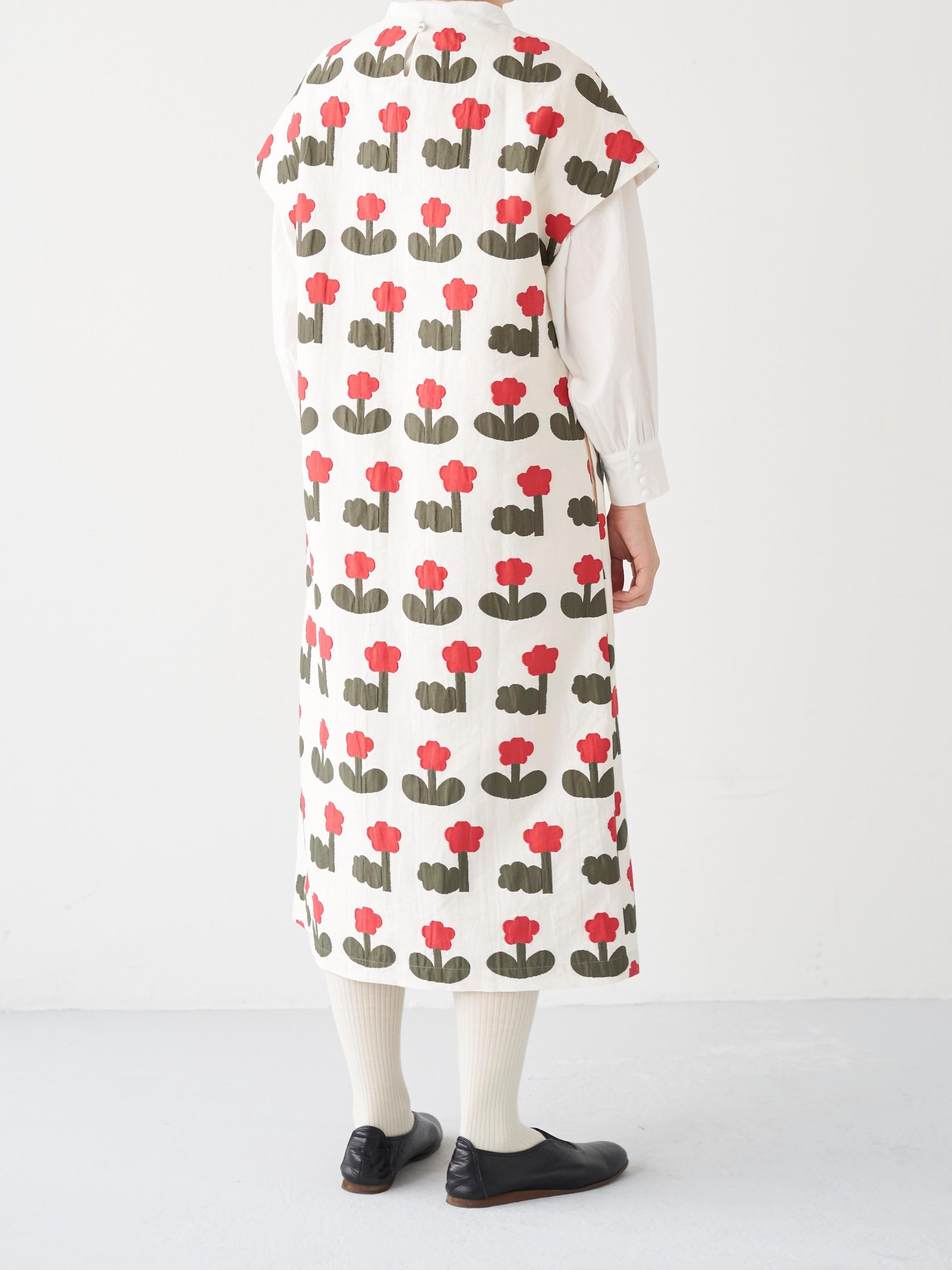 お花ジャガードワンピース