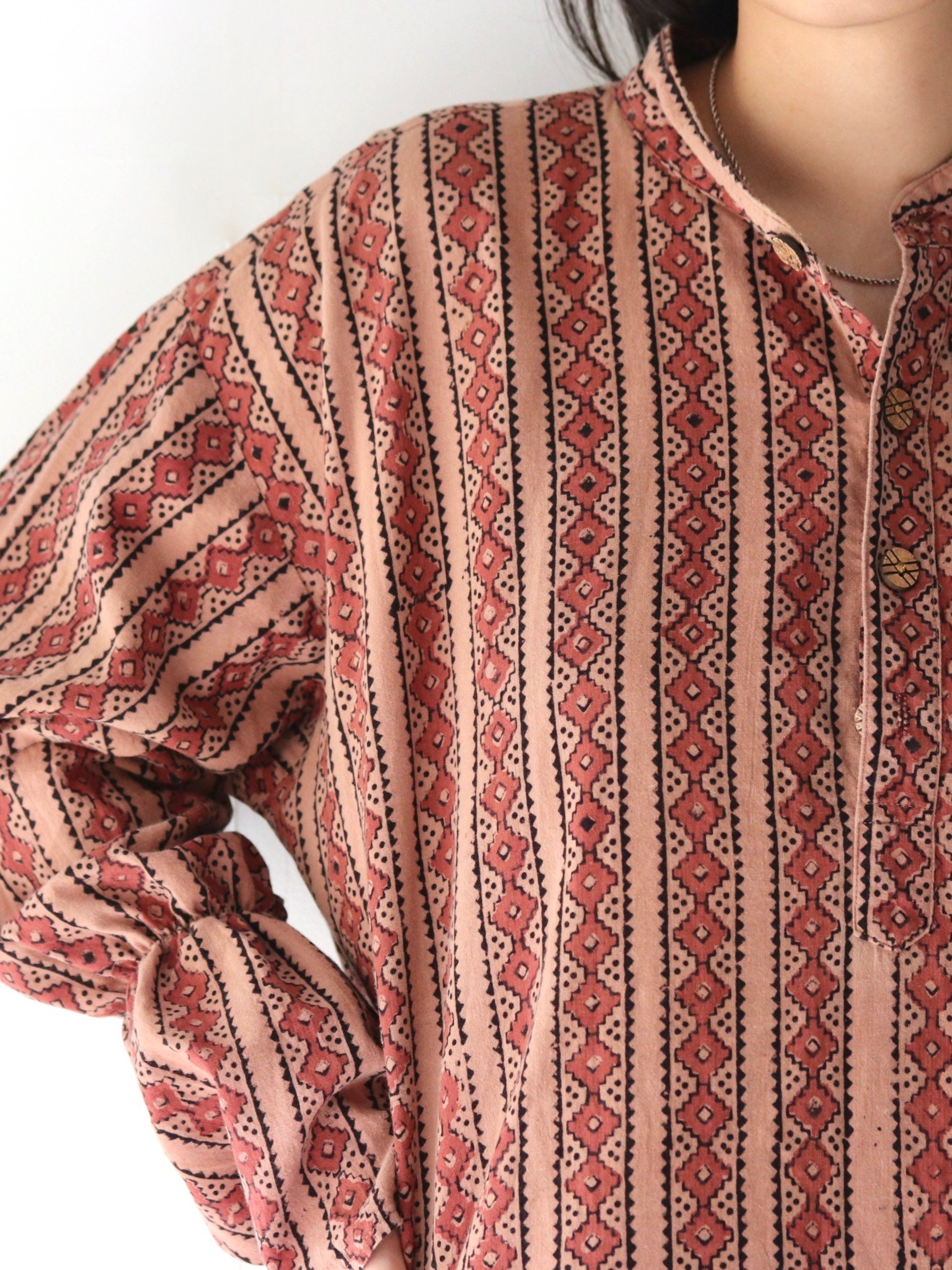 Caftan shirt one-piece