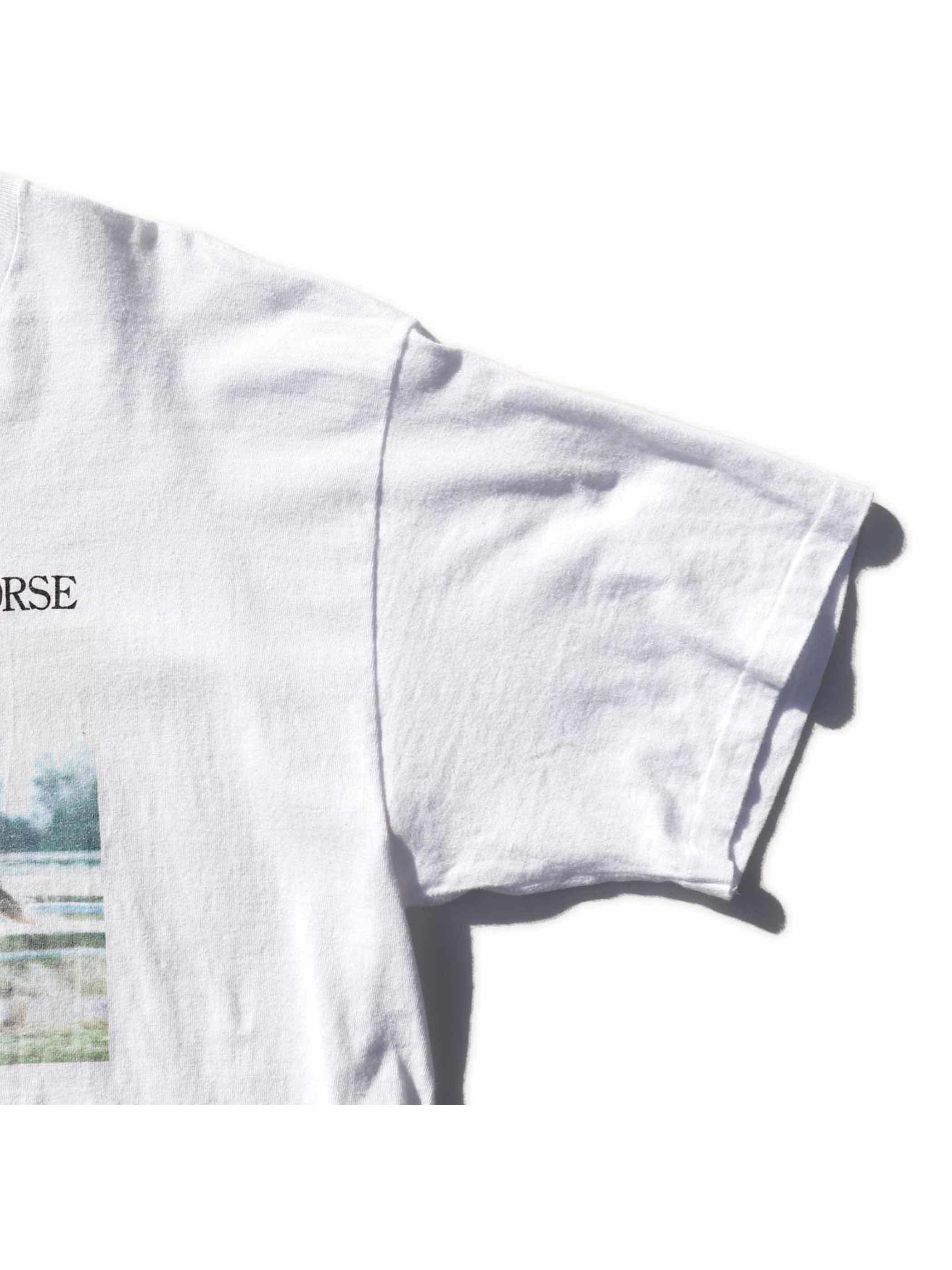 """90's TAKE YUTAKA """"MEJIRO MCQUEEN"""" プリントTシャツ [L]"""