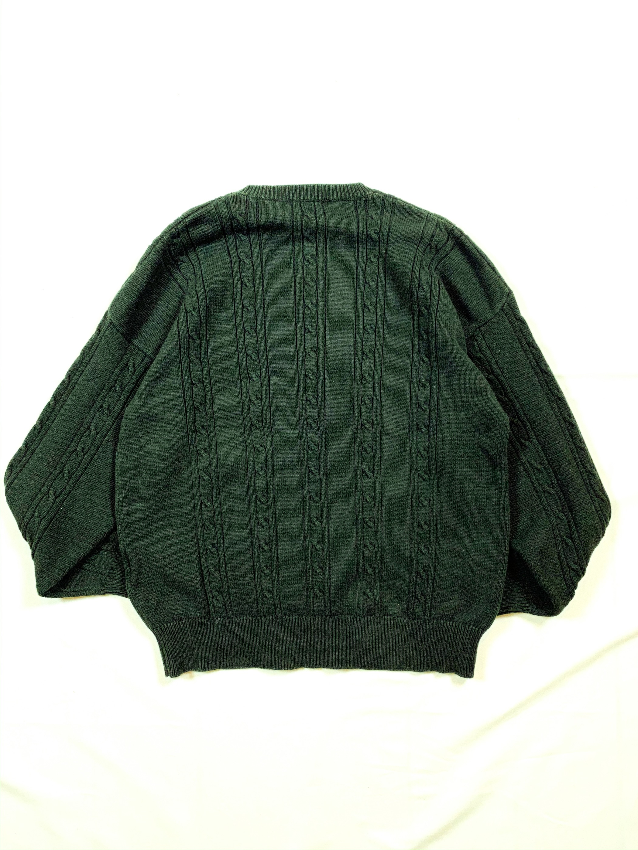 90's nautica cotton cable knit sweater