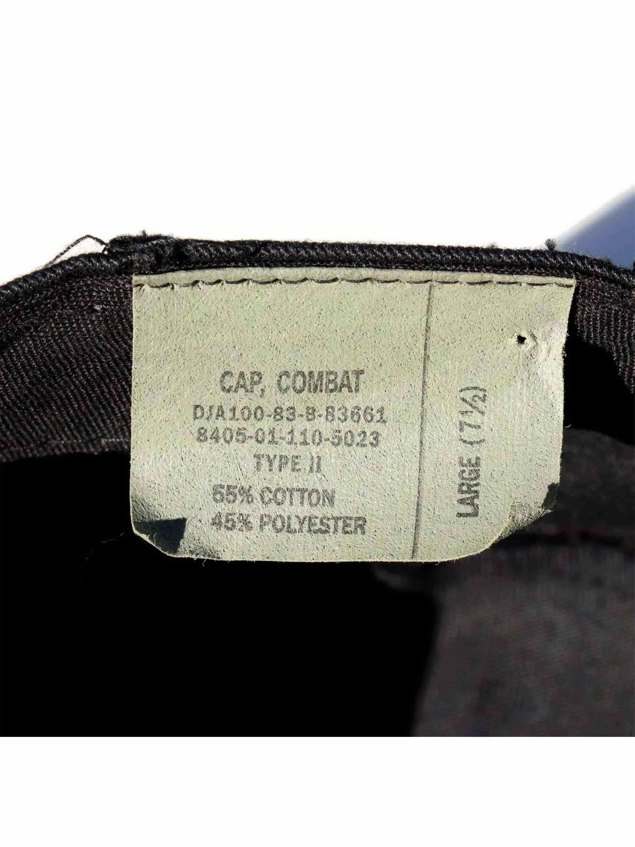 80's U.S. MILITARY ブラック BDU コンバットキャップ [L]