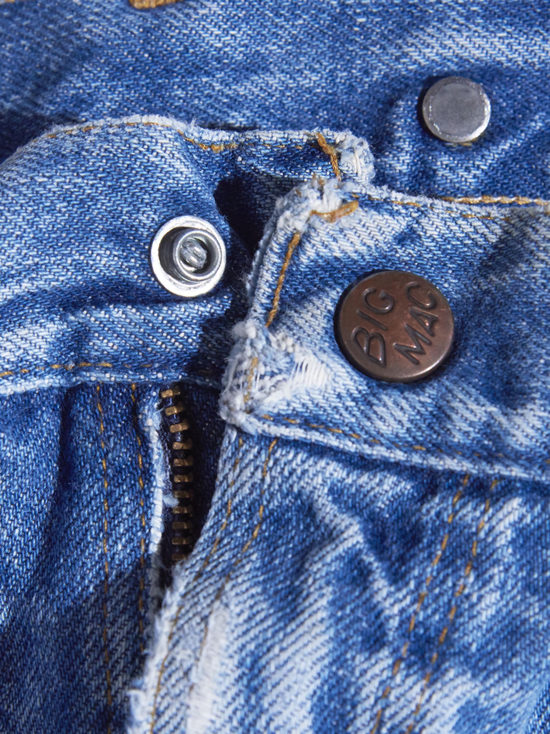 """1970s """"BIG MAC"""" suspender button denim painter pants -BLUE-"""