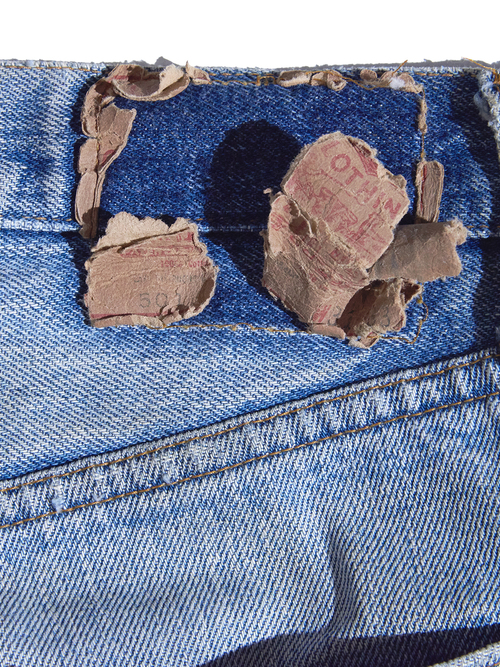 "1976y ""Levi's"" 501 66single denim pants -BLUE-"