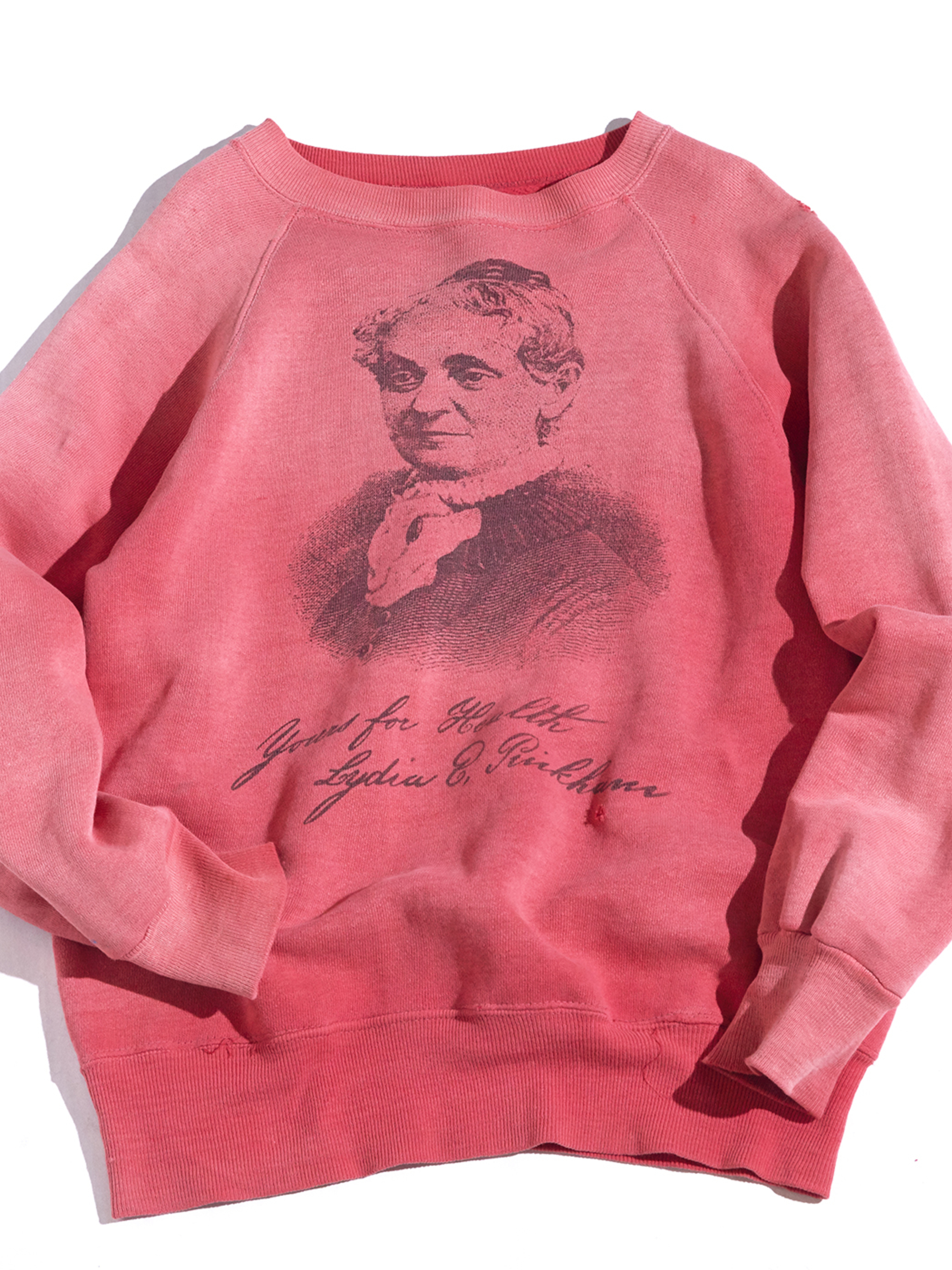 """1960s """"unknown"""" printed sweat -FADE RED- <SALE¥28000→¥22400>"""