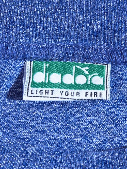 "1990s ""diadora"" lined tee -SAX-"