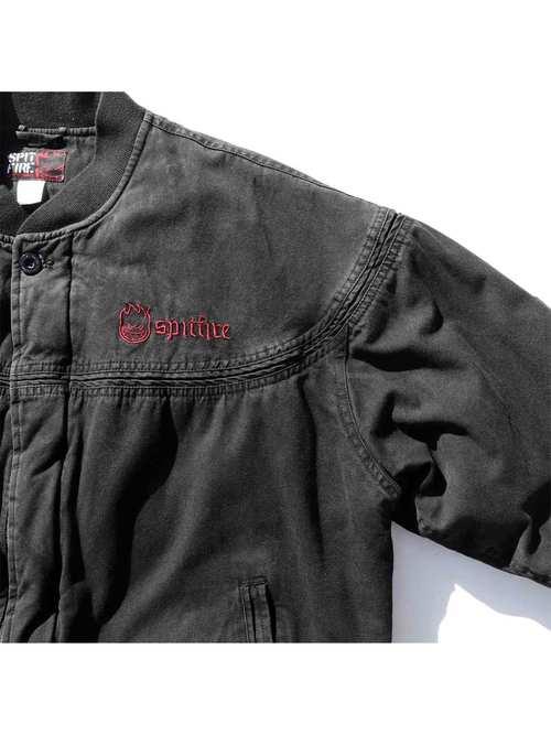 00's SPITFIRE Black Cup Shoulder Jacket [XL]