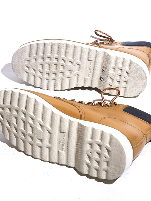 "1990s ""MACHOMAN"" leather work boots -CAMEL- <SALE¥12000→¥9600>"