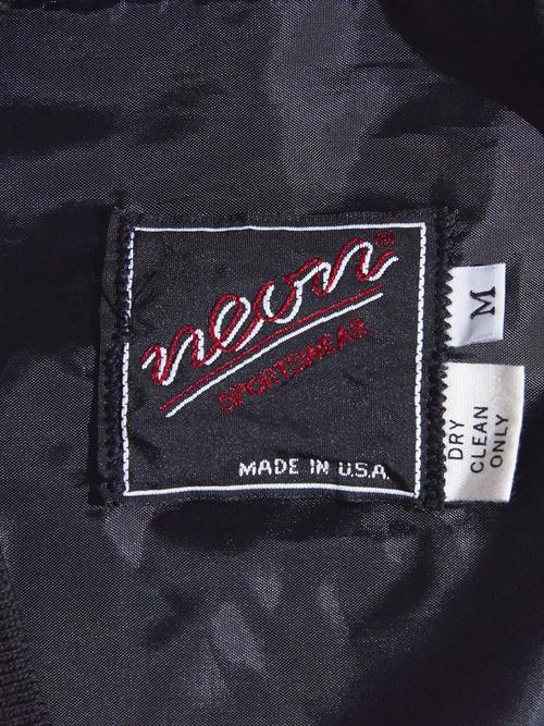 "1970s ""neon"" wool cardigan -CHACOAL- <SALE¥13000→¥10400>"