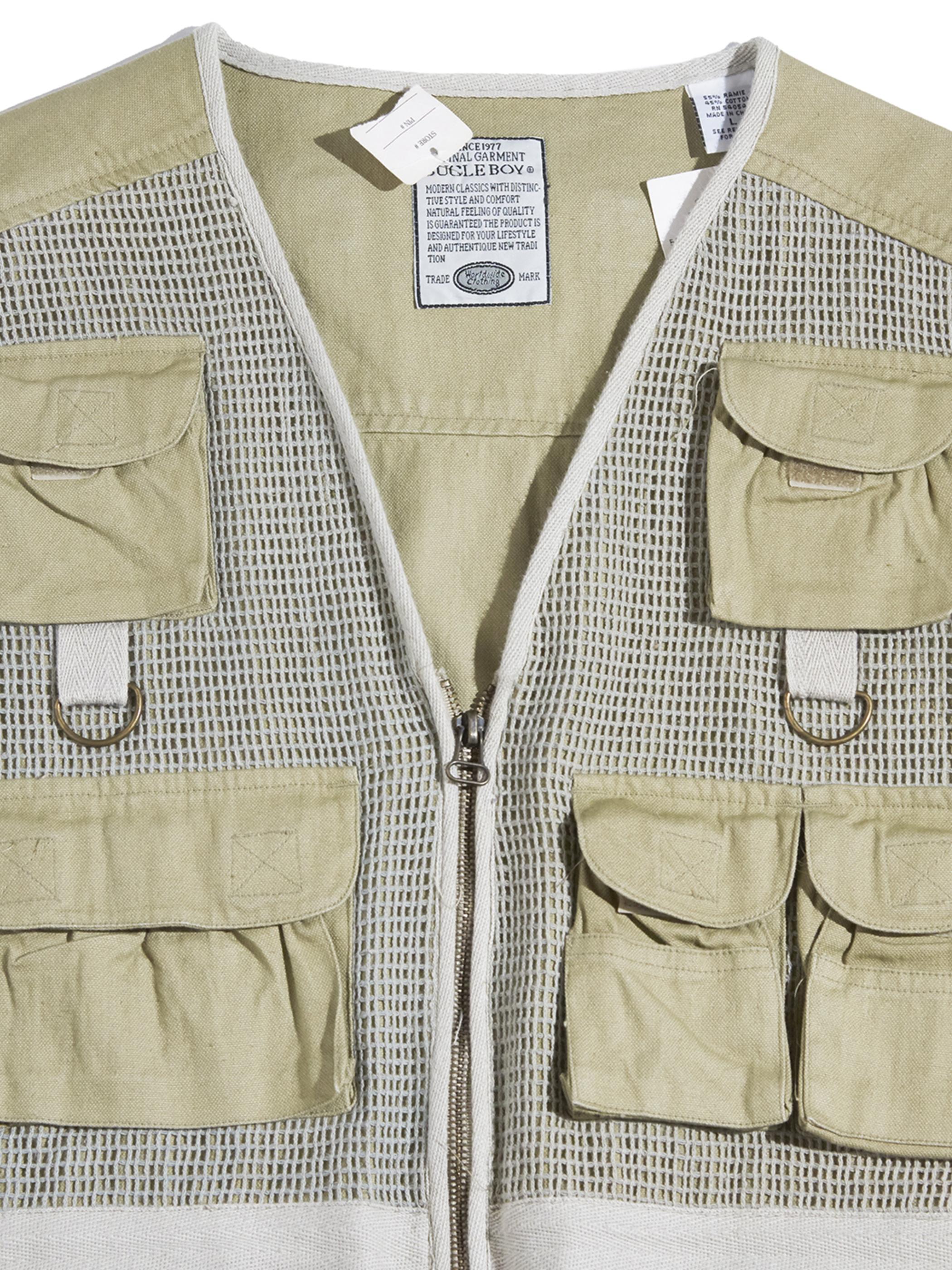 """1990s """"BUGLE BOY"""" fishing vest -BEIGE-"""