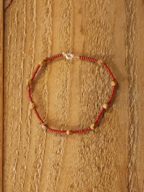 "NAVAJO GHOST BEADS Bracelet ""Red"""