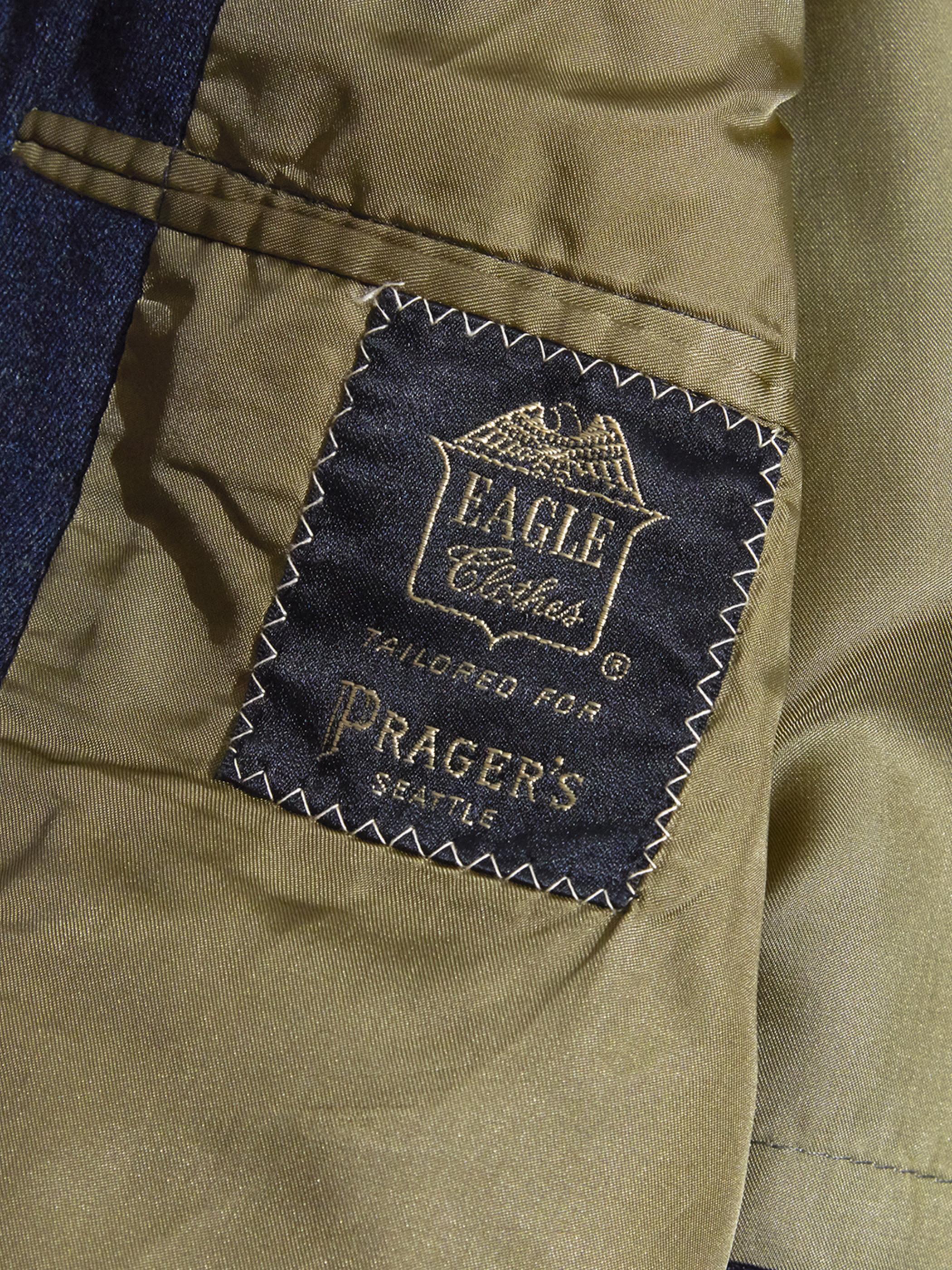 """1960s """"PRAGER'S"""" wool gabardine coat -CHACOAL-"""
