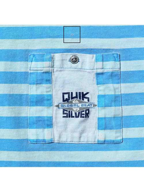80's~ QUIKSILVER USA製 プリントボーダー Tシャツ [M]