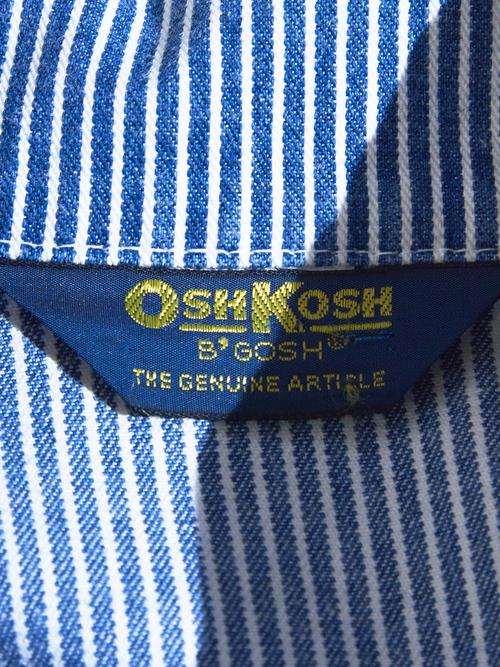 """1980s """"OSH KOSH"""" hickory stripe coverall -HICKORY-"""