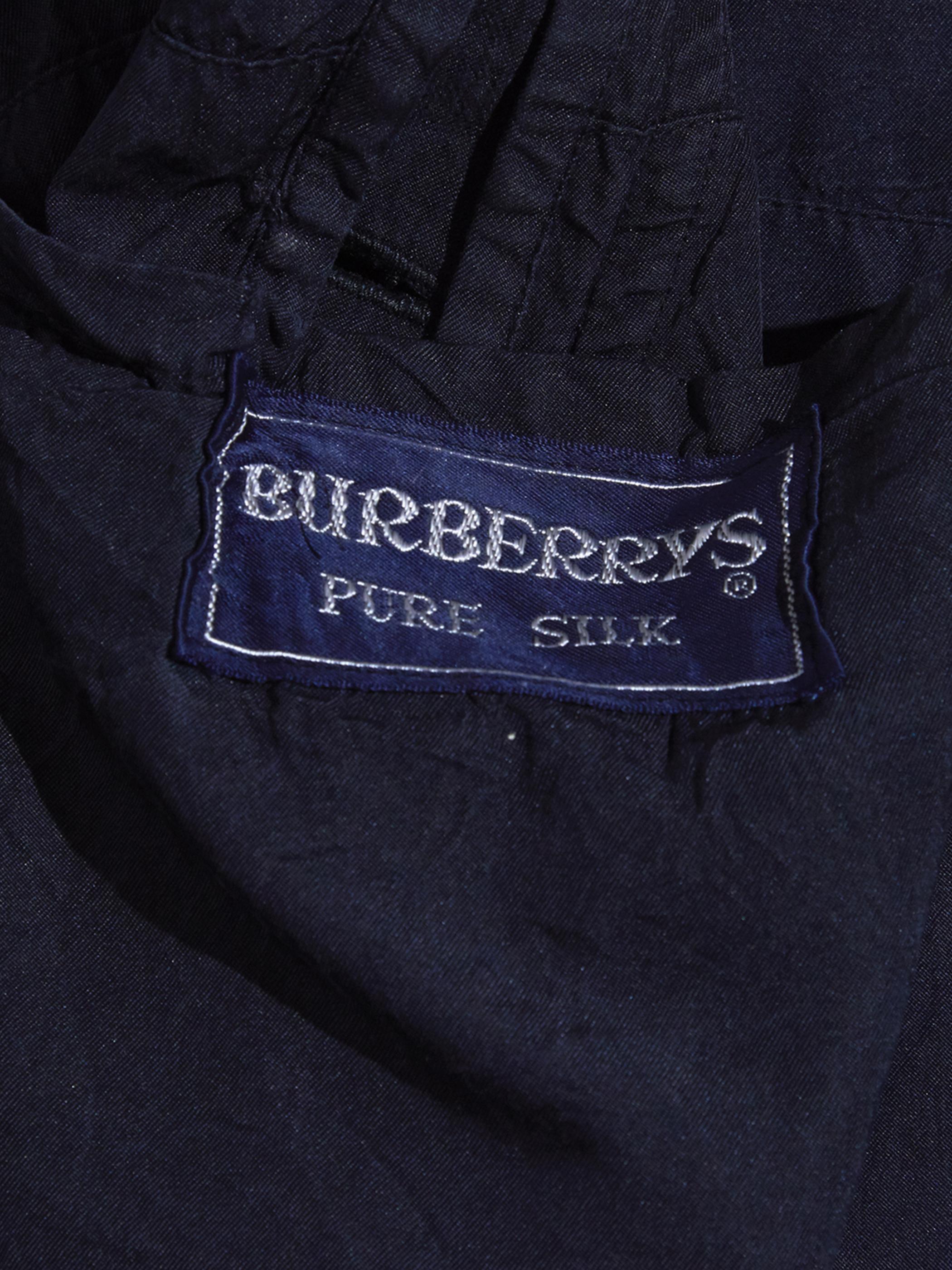 """1990s """"Burberrys"""" silk bal collar coat -BLACK-"""