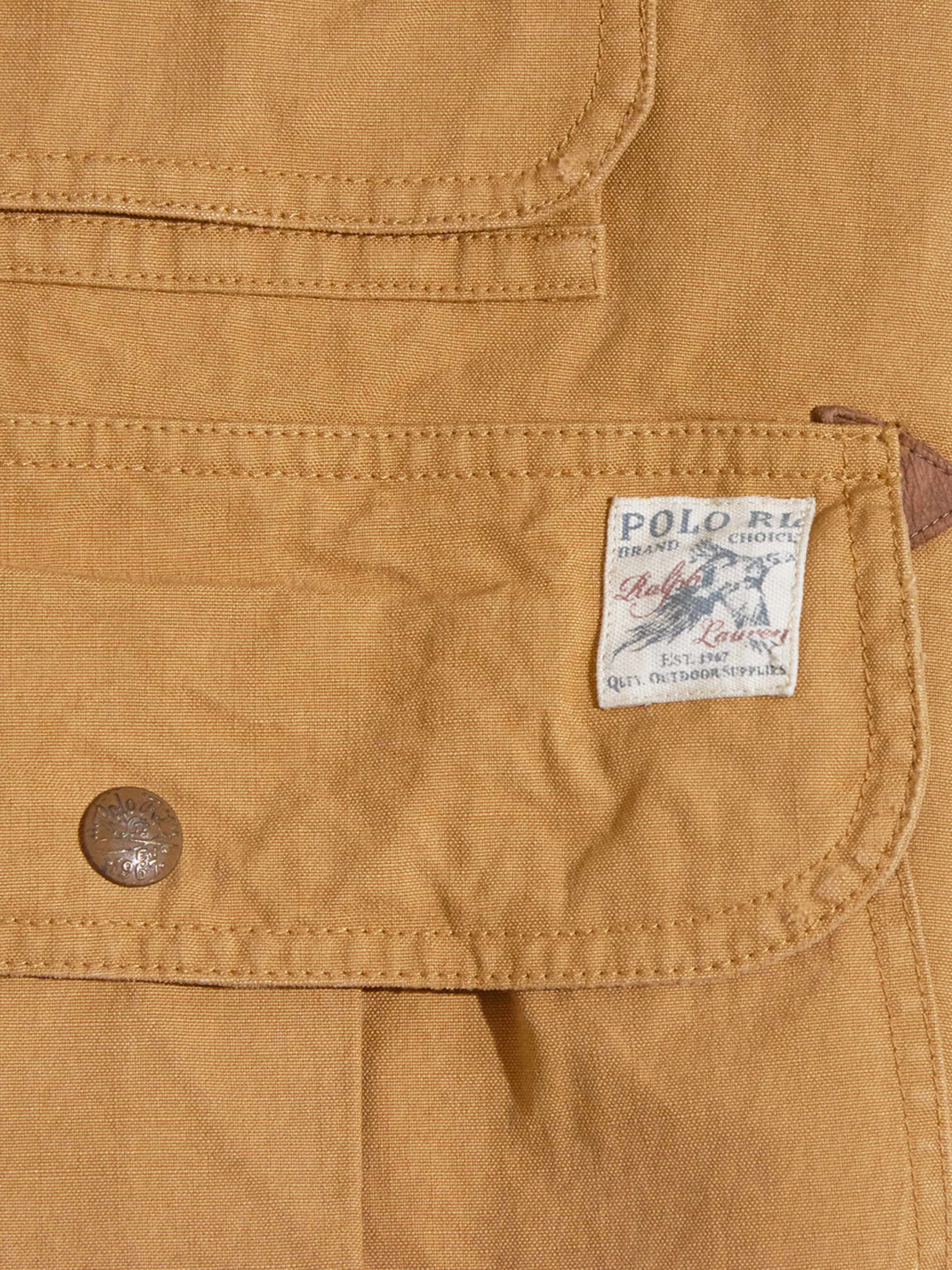 """2010s """"POLO by Ralph Lauren"""" huntting vest -BROWN-"""