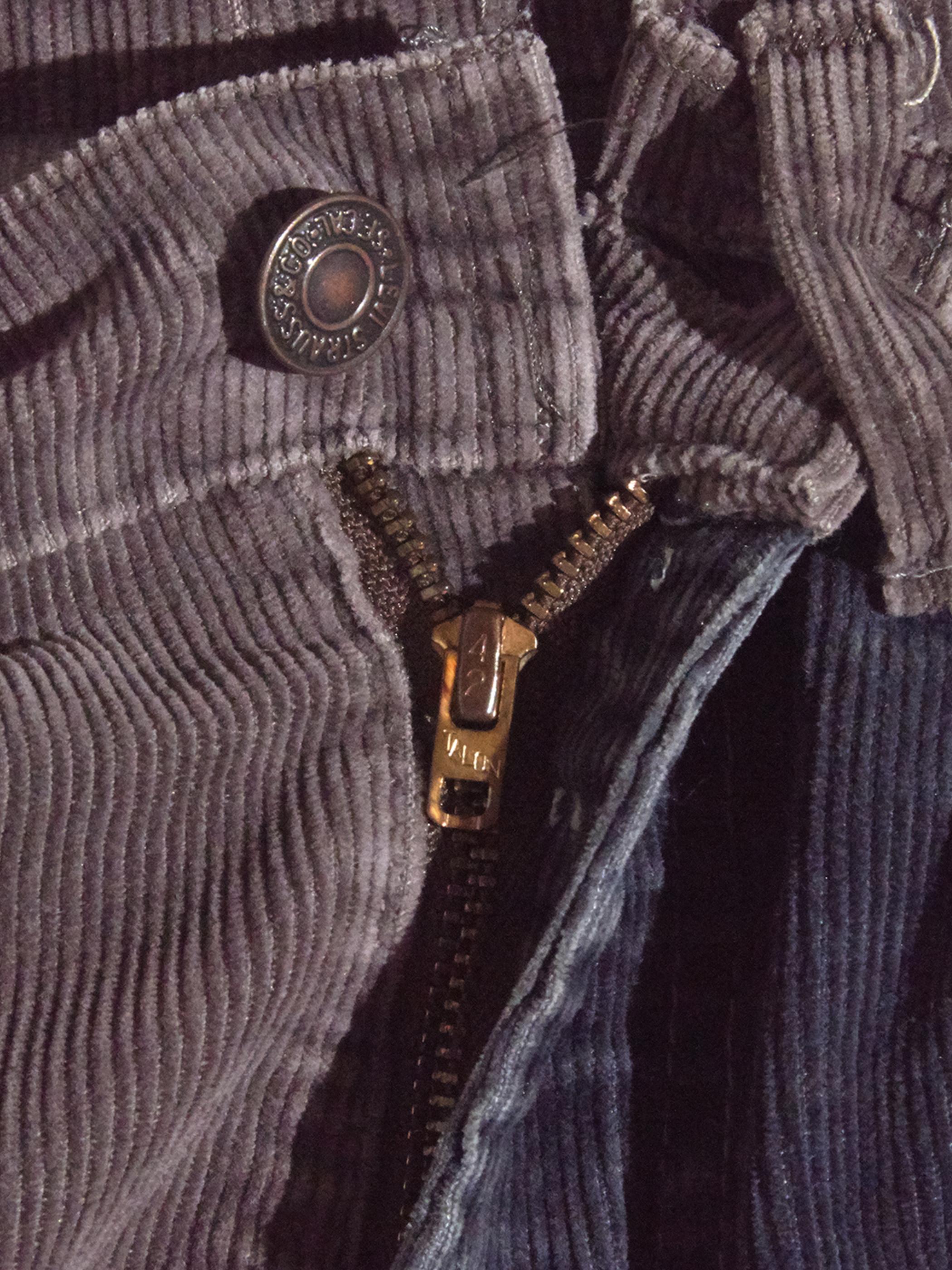 "1980s ""Levi's"" custom mede crazy pettern 519 corduroy pants #5"