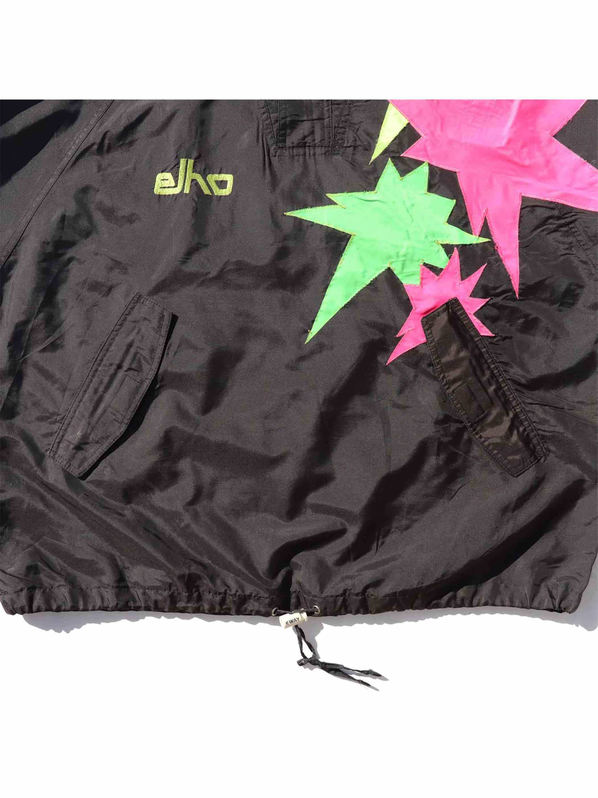80's~ ELHO FREESTYLE Sparkle Patch Pullover Jacket [About XL]
