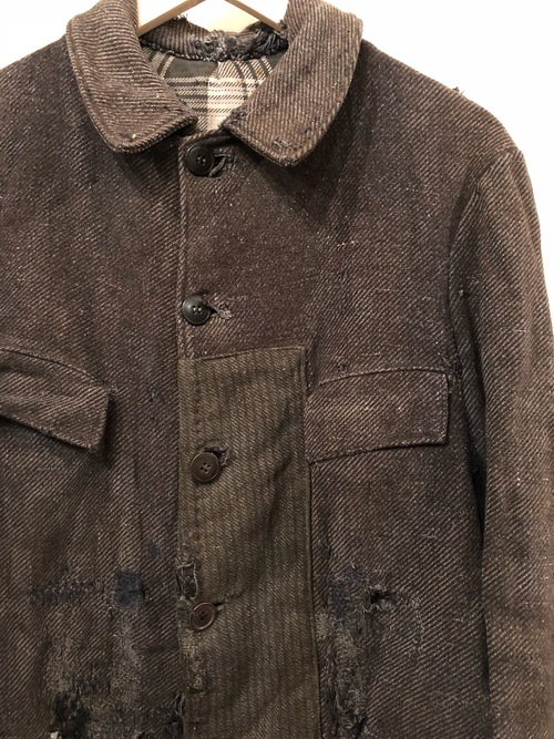 〜1940s French patchwork repaired wool work jacket