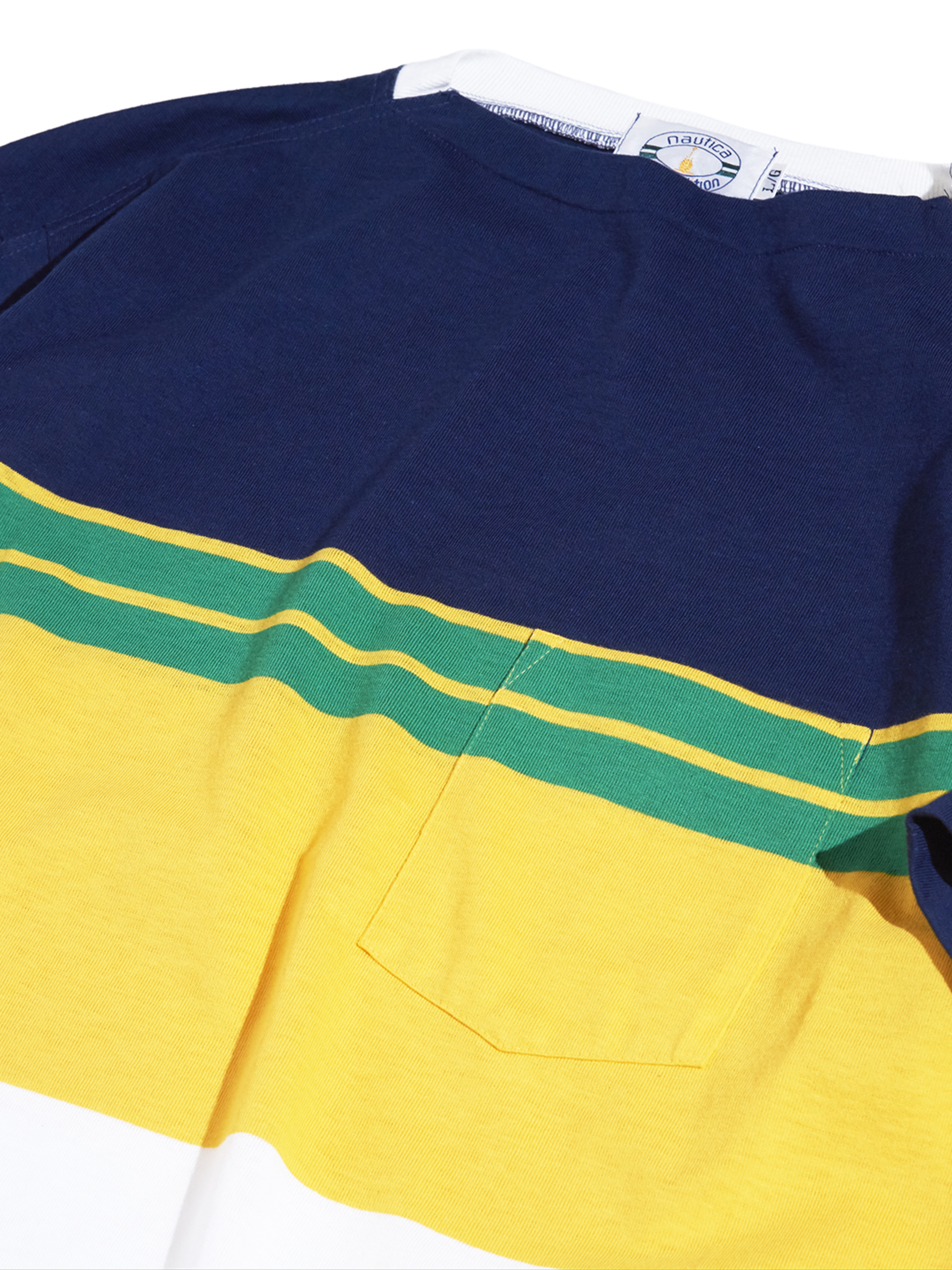 "1990s ""nautica competition"" border tee -NAVY-"
