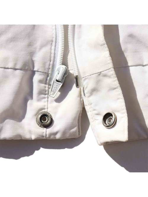 80's~ JAMMIN USA製 コットン/ナイロン ジップアップジャケット [L]