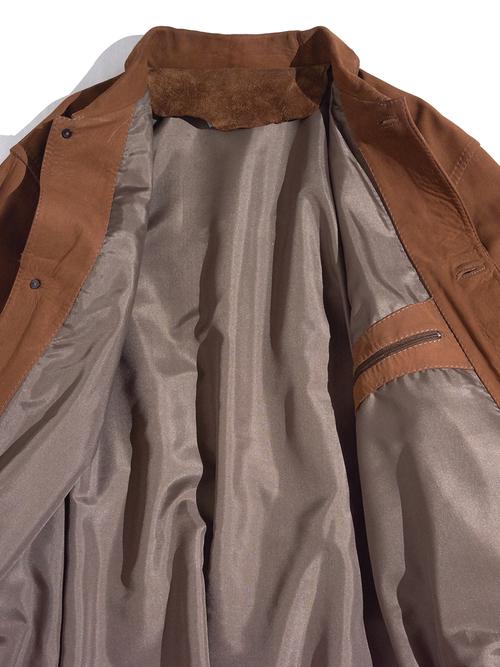 "1970s ""unknown"" nubak leather jacket -BROWN-"