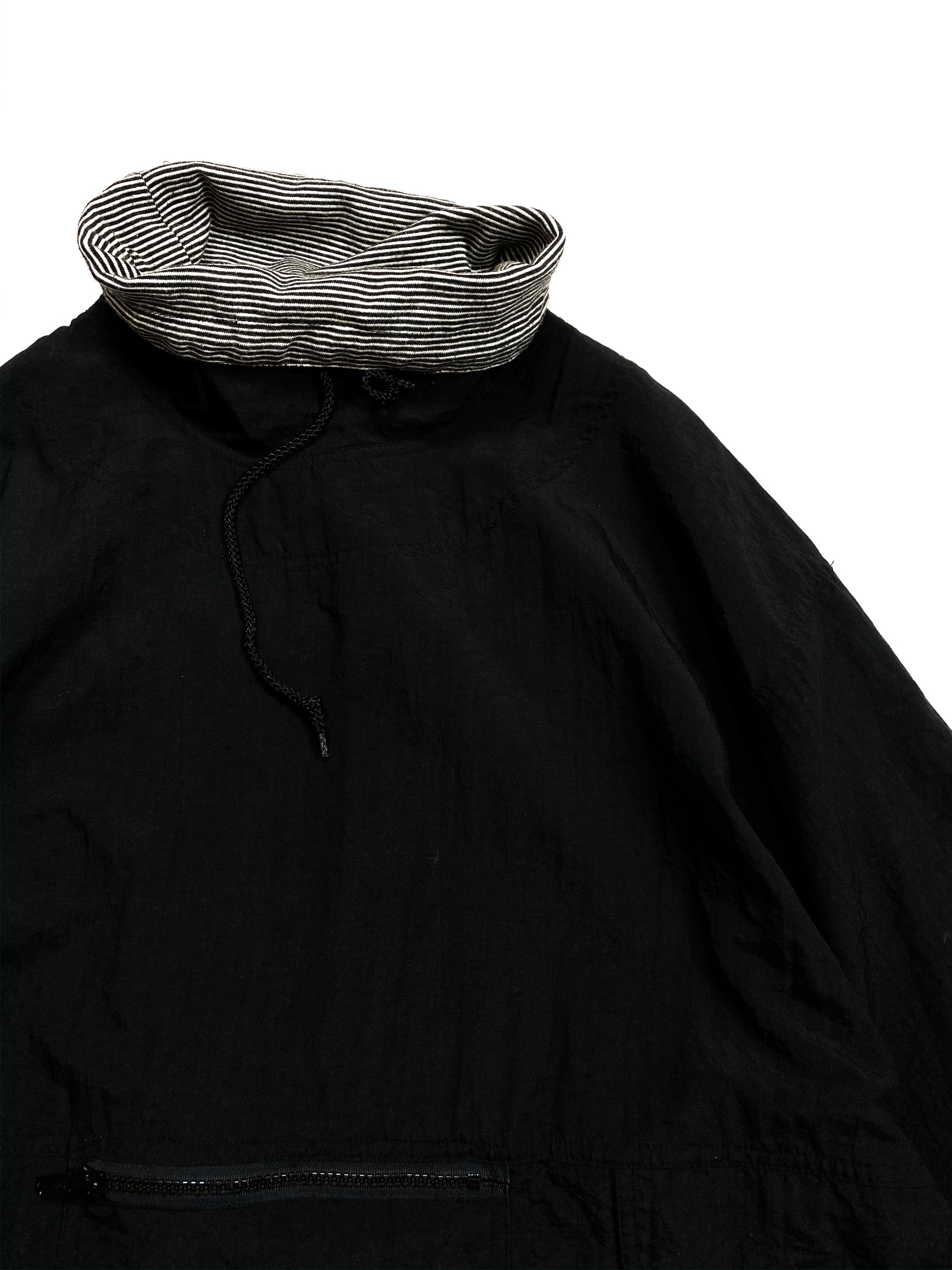 high neck nylon anorak