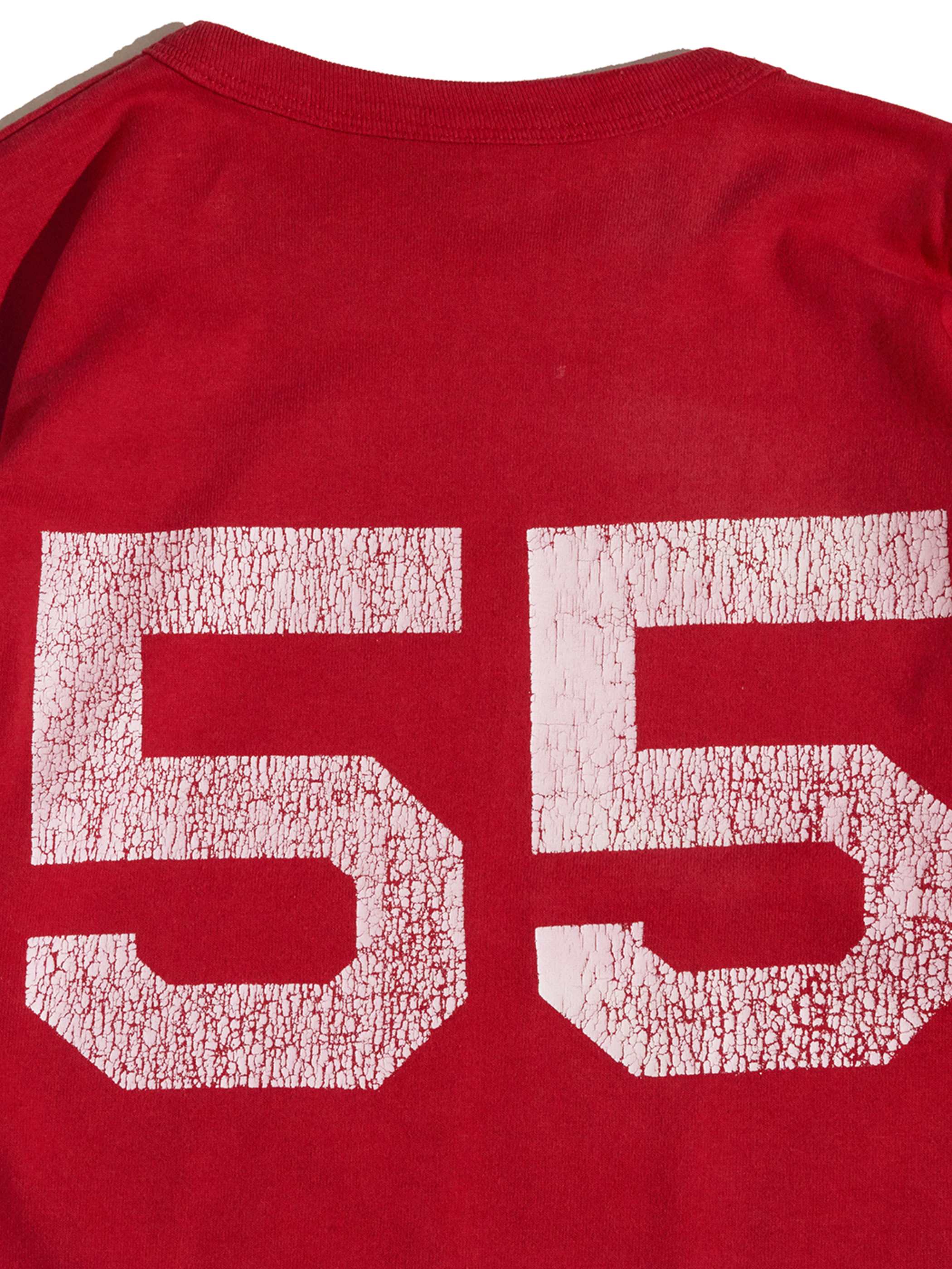 """1980s """"Champion"""" back print tee -RED-"""