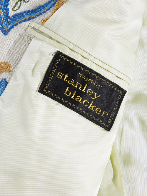 """1960s """"stanley blacker"""" embroidery tailored jacket -IVORY-"""