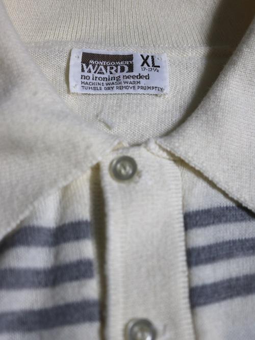1970's MONTGOMERY WARD Border Knit polo
