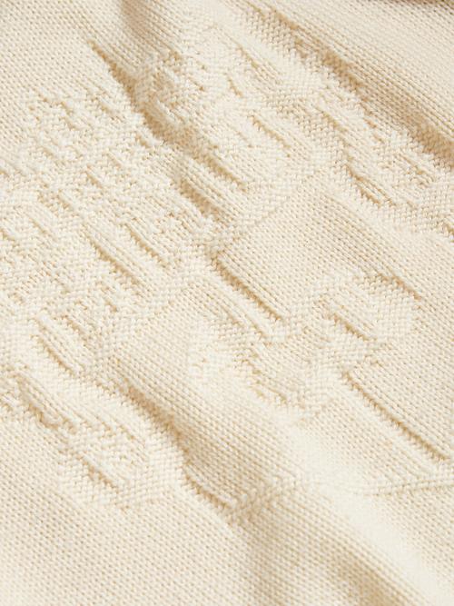 "1970s ""Alan Paine"" wool knit -ECRU-"