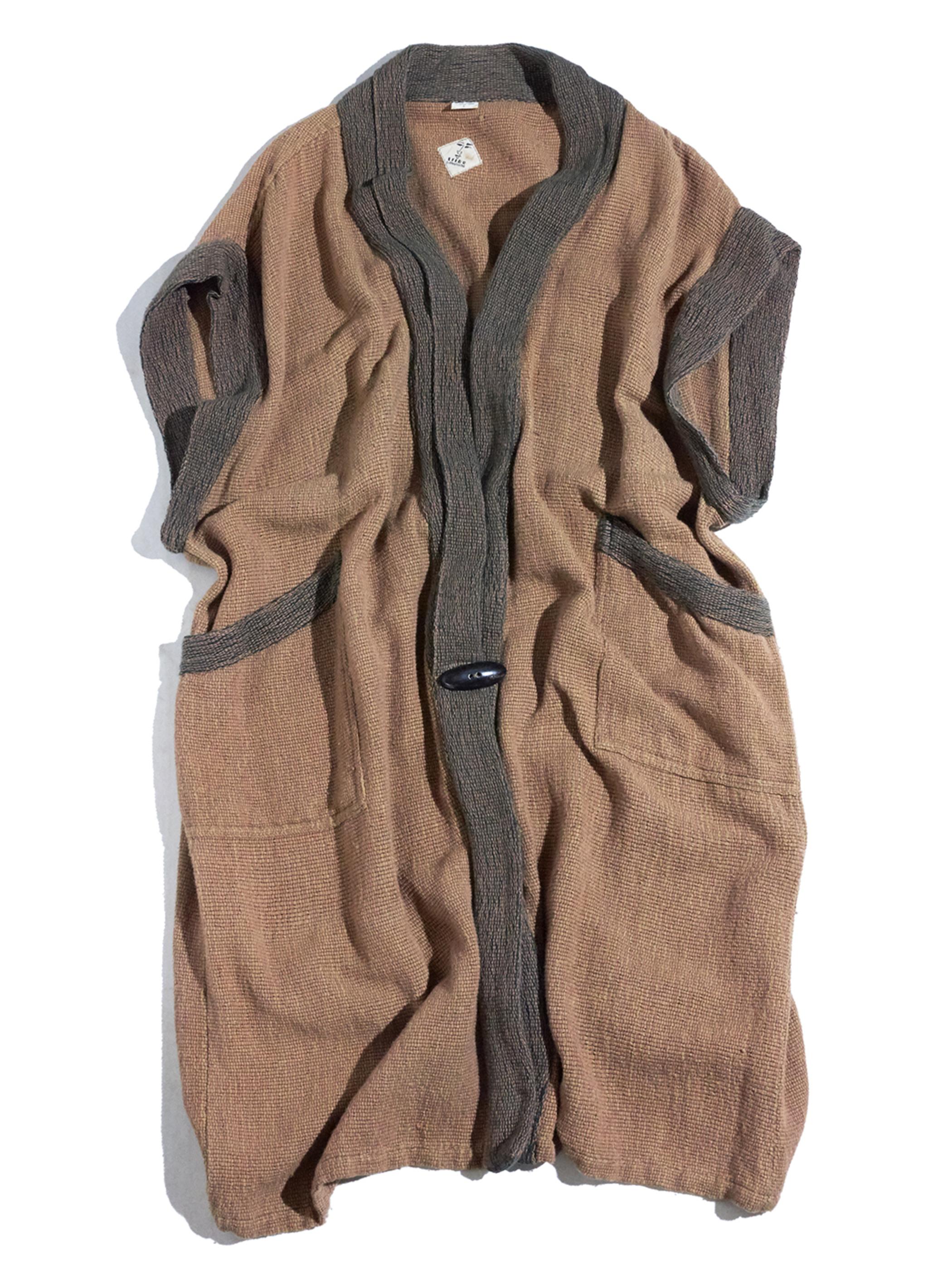 """1980s """"unknown"""" cotton haori coat -BROWN-"""