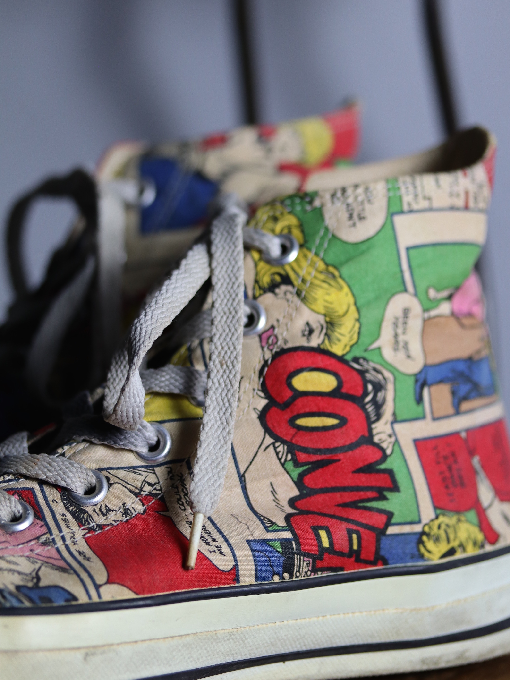 1990's Converse ALL STAR Comic Hi / Under License USA  Made in Japan /size 9 1/2