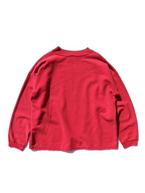80's GUESS USA製 裏起毛ツイル ロングスリーブTシャツ [FREE]