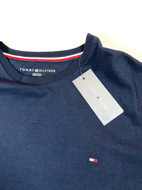 TOMMY HILFIGER one point tee (navy)