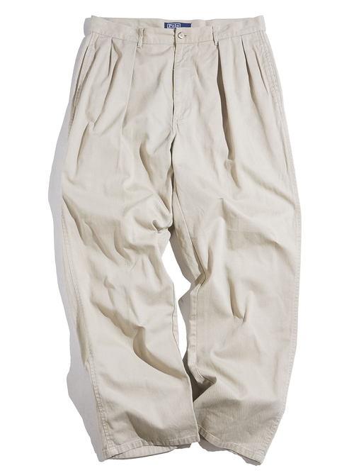"1990s ""POLO by Ralph Lauren"" chino trousers -BEIGE-"