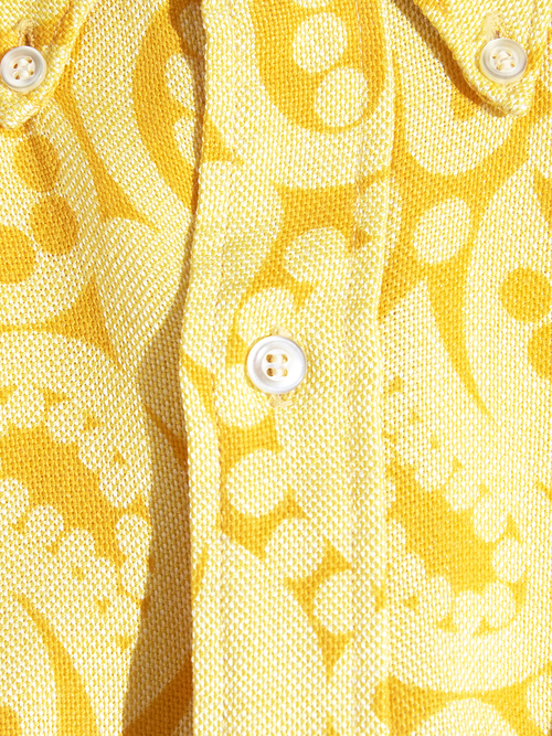 "1960s ""TOWN CRAFT"" swiching pattern shirt -YELLOW-"