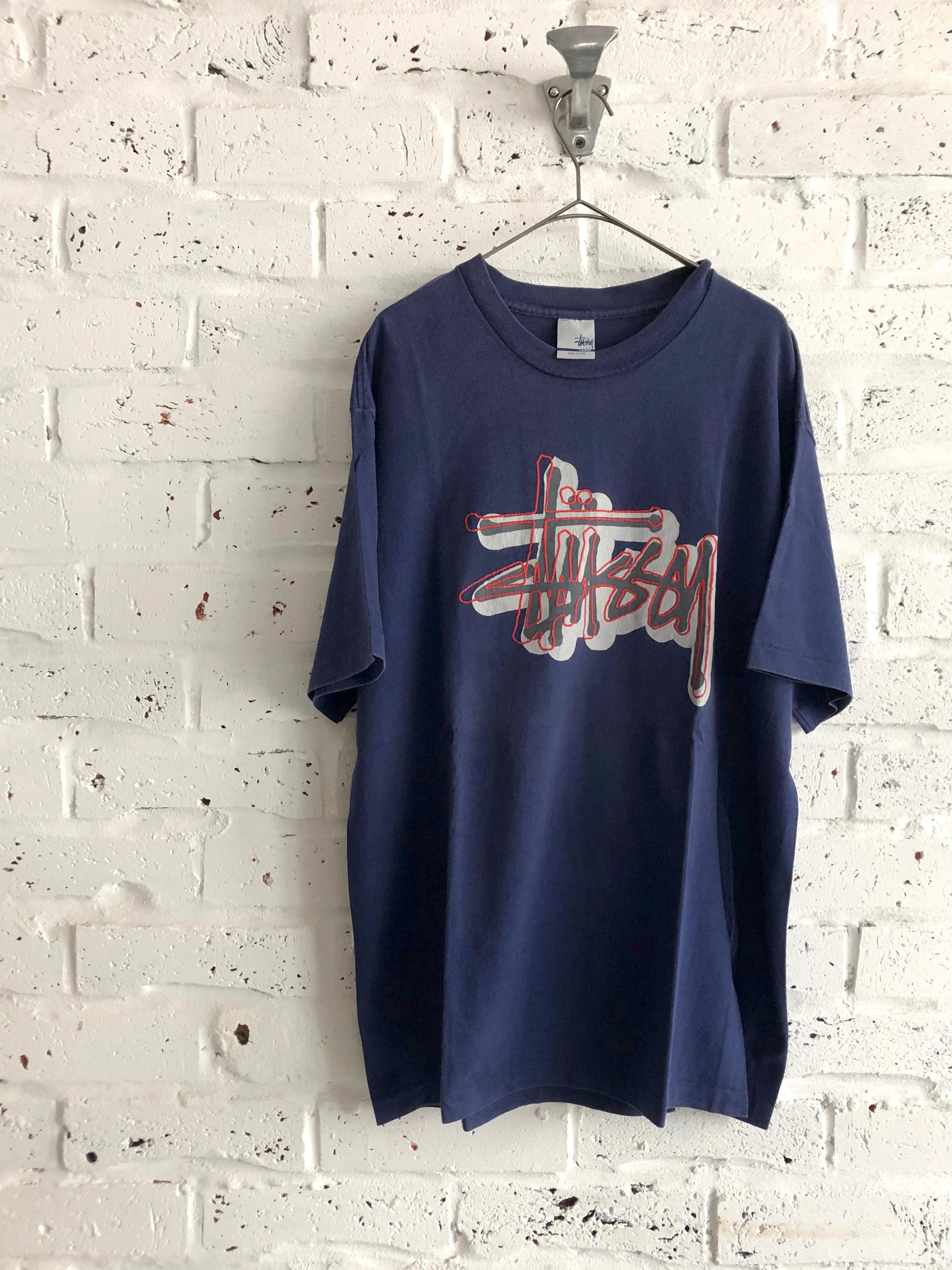 "OLD STUSSY ""ORANGE LINE"" 90's T-shirt"