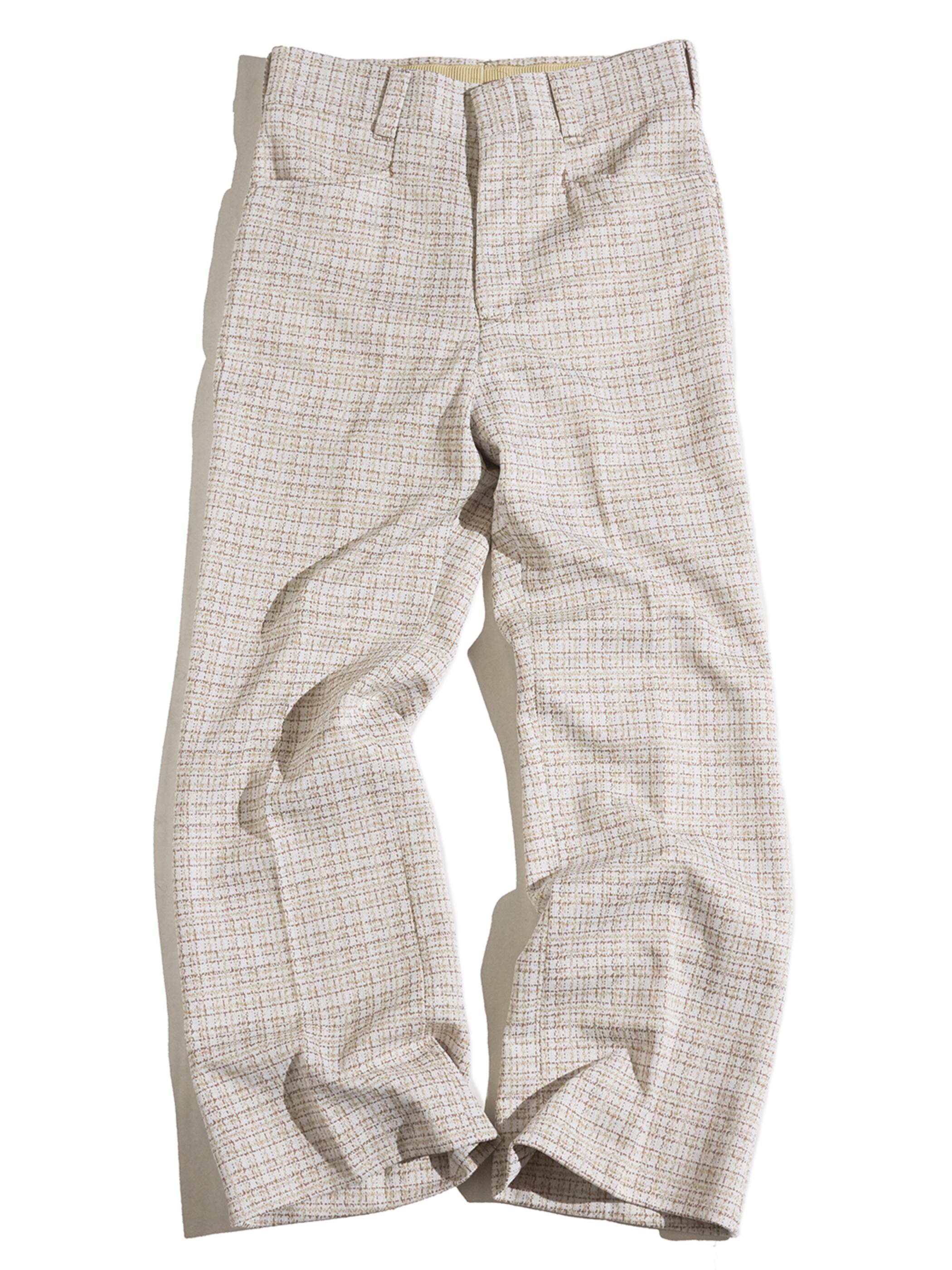 "1970s ""unknown"" polyester frare slacks -jacquard-"