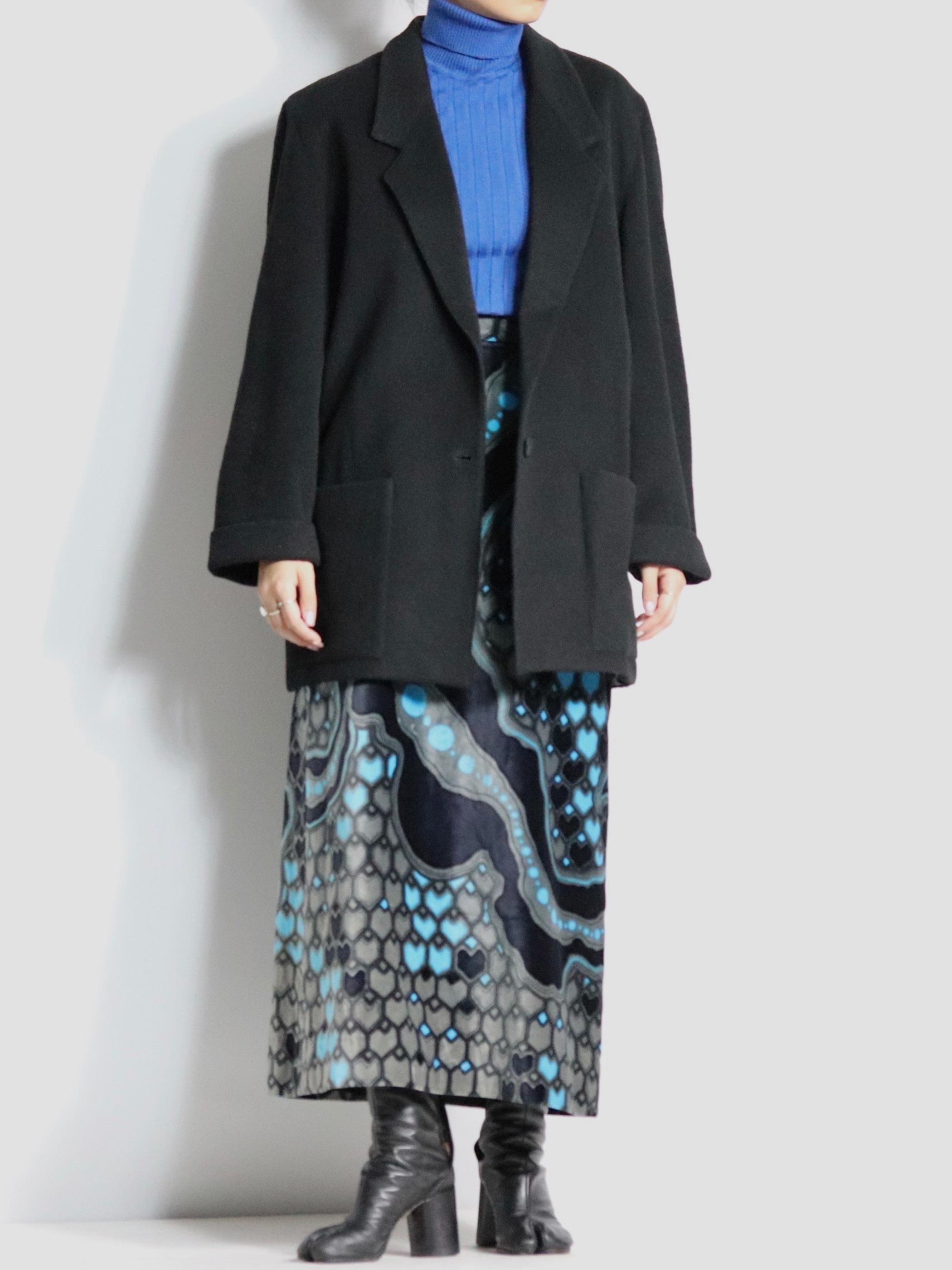 melton tailored coat