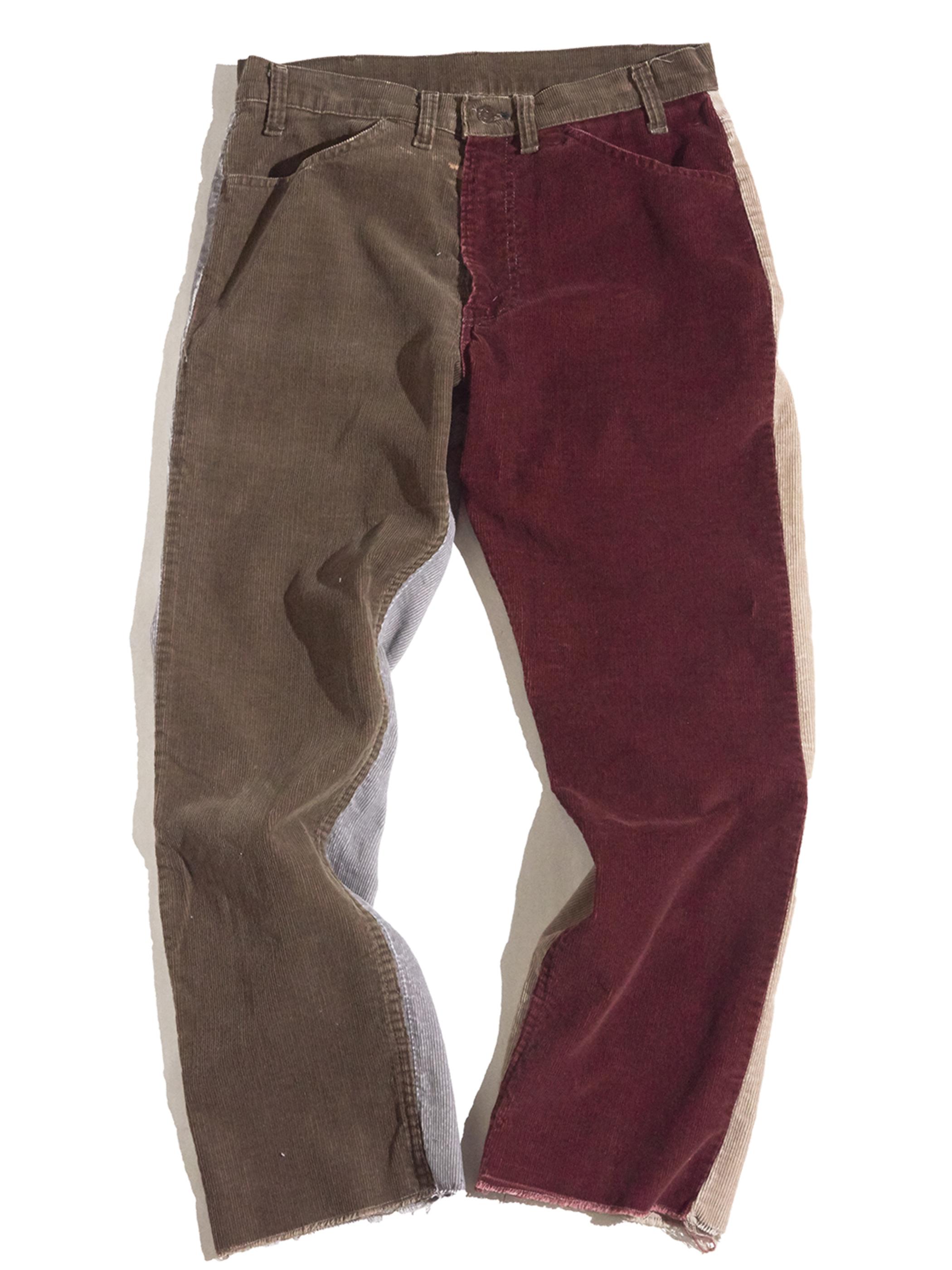 "1980s ""Levi's"" custom mede crazy pettern 519 corduroy pants #8"